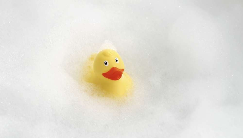 rubber duck floating